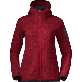 Bergans Kamphaug Knitted Hoodie Women red